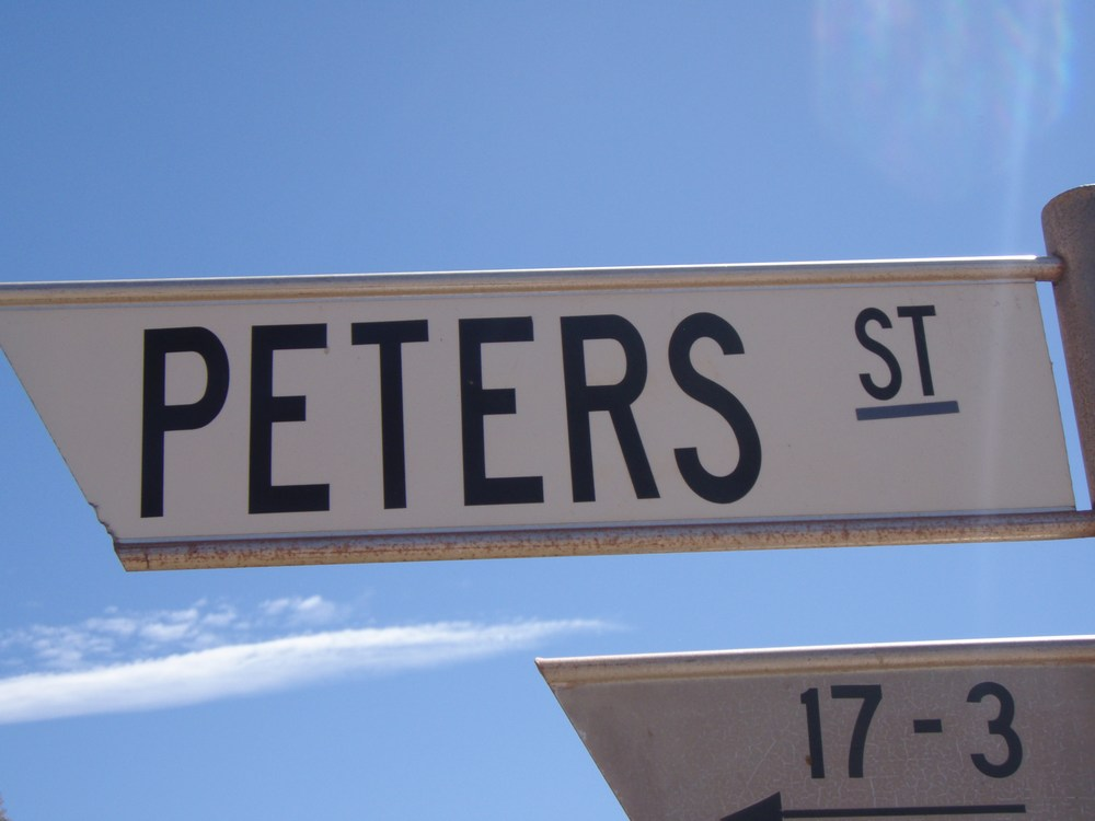 this street belongs to Peter